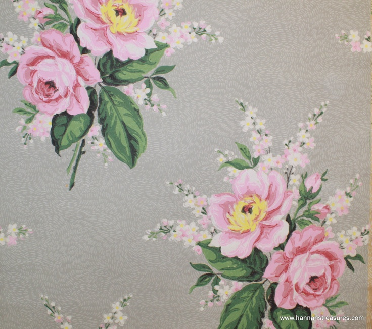 Wallpapers 1940S Vintage Wallpapers Ideas Wallpapers Pink 1940 S 736x652
