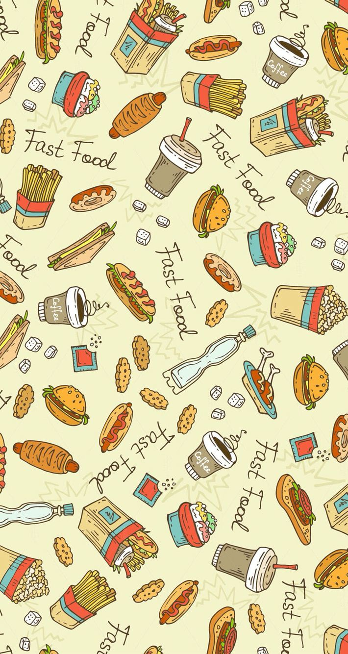 Fast food wallpaper Wallpapers Food wallpaper Wallpaper 710x1334