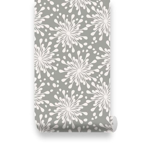 Pattern Grey Removable Wallpaper   Peel Stick Repositionable Fabric 500x500