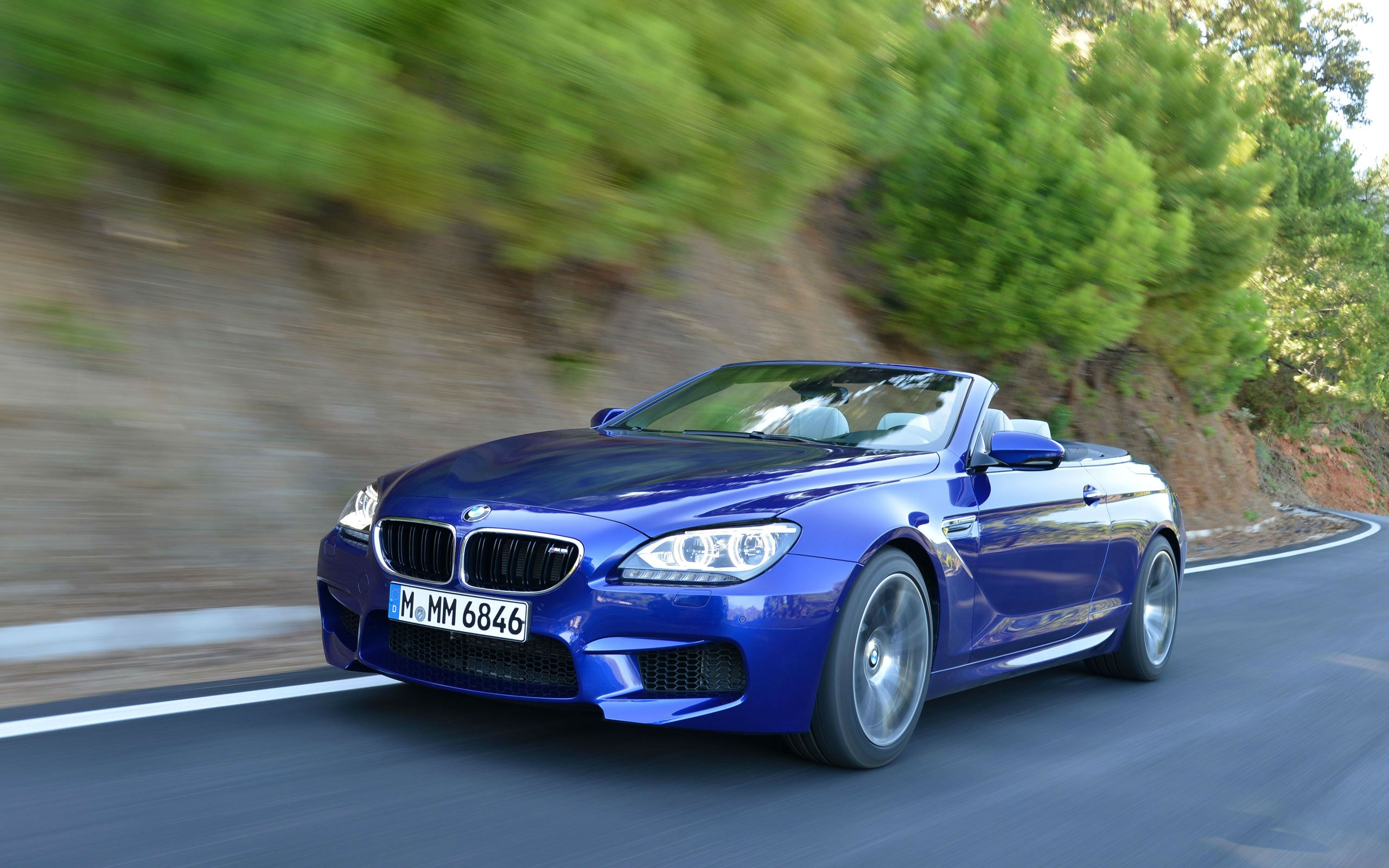 BMW M6 Convertible Blue Car Wallpapers   2560x1600   870180 2560x1600