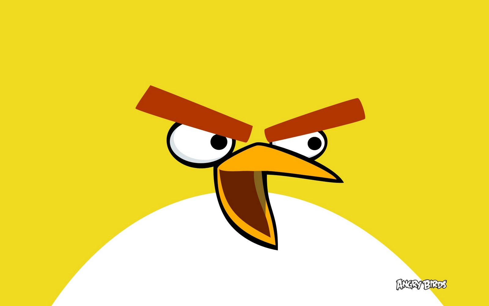 yellow bird in angry birds widejpg 1600x1000