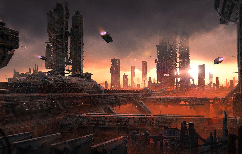 Photo Wallpaper The City Future Machine City Architecture 1332x850