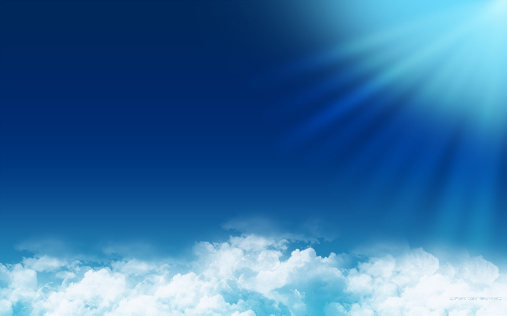 Blue sky HTML E Mail Templates 1680x1050