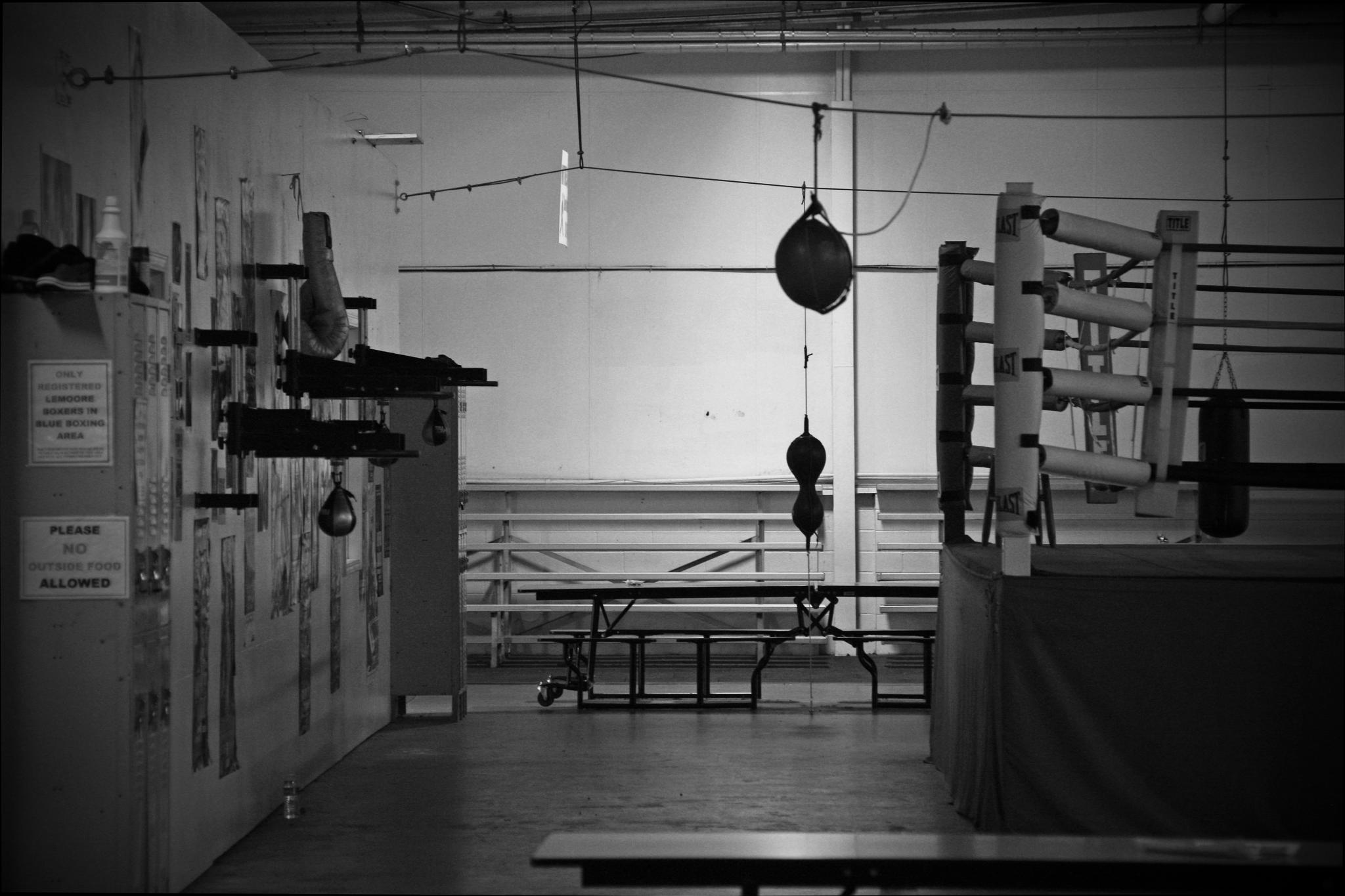 empty boxing gym -#main