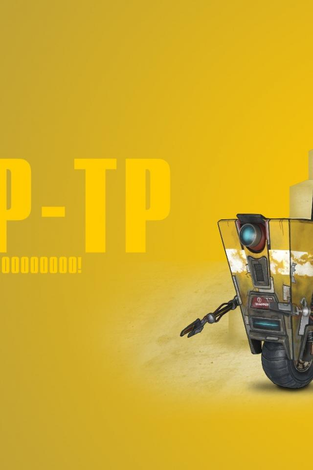 Video games borderlands claptrap wallpaper 61261 640x960
