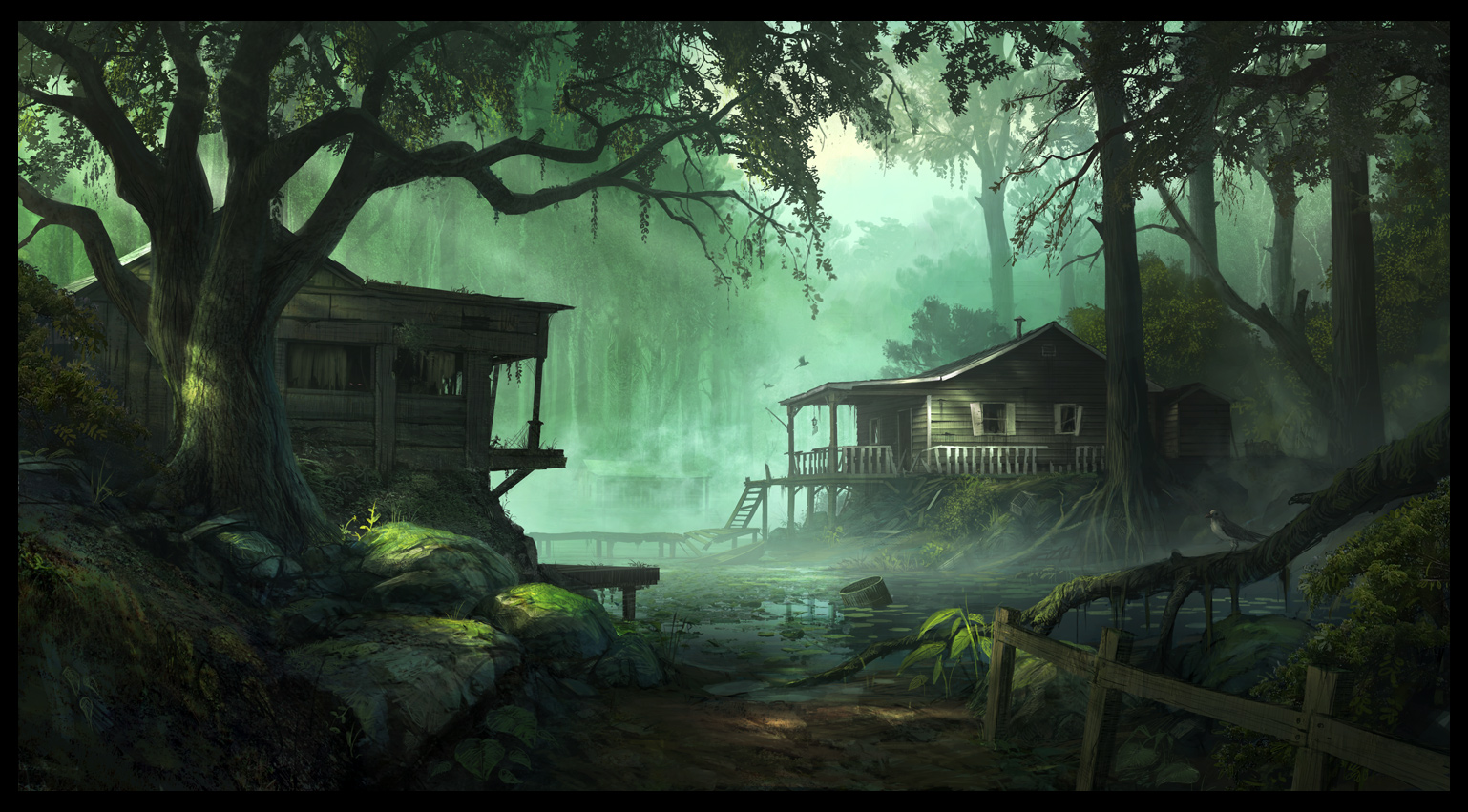 forest cabins Wallpaper Background 26470 1538x851