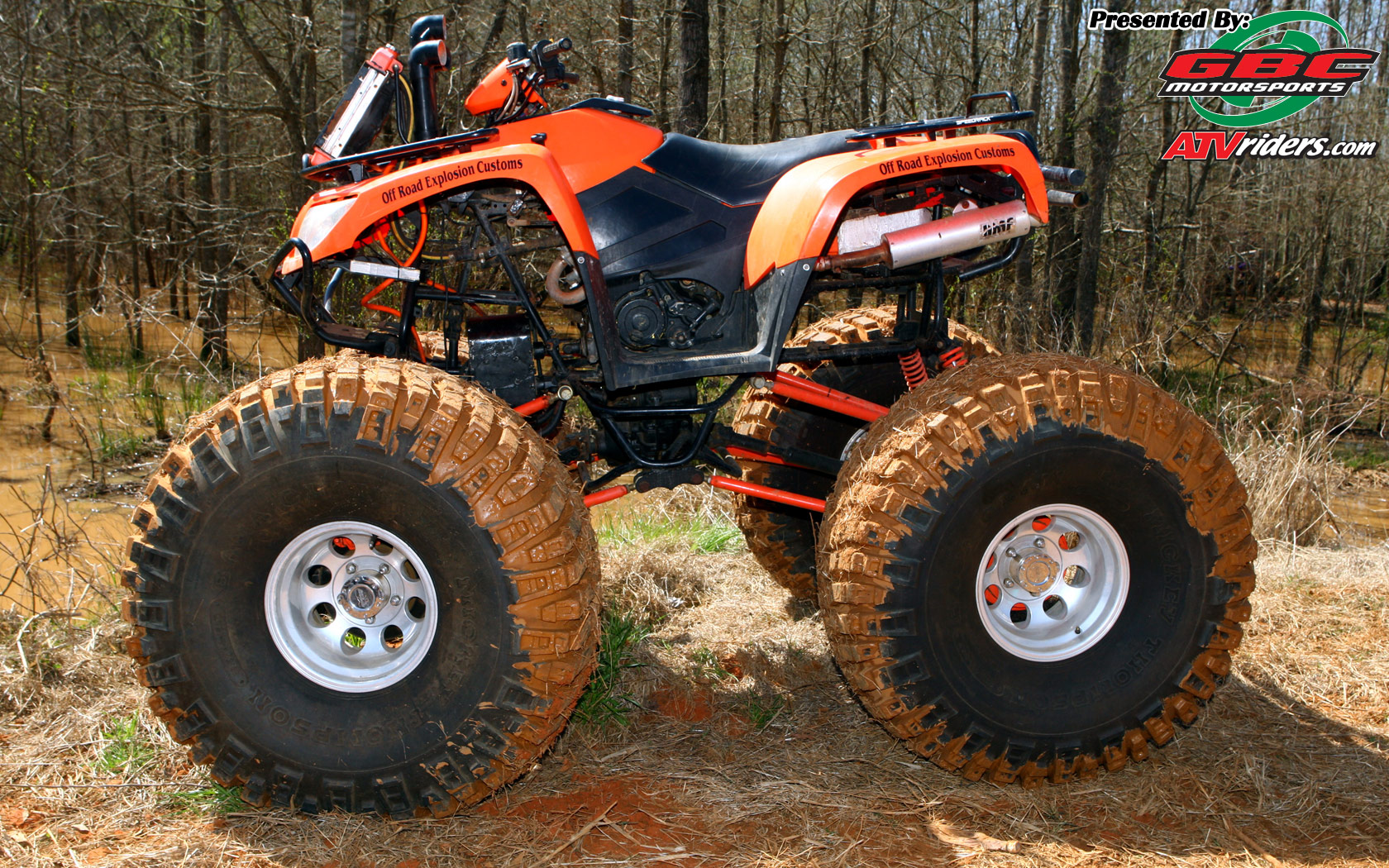 Cat ATV with Monster Tires   Wednesday Wallpapers   Weekly ATV 1680x1050