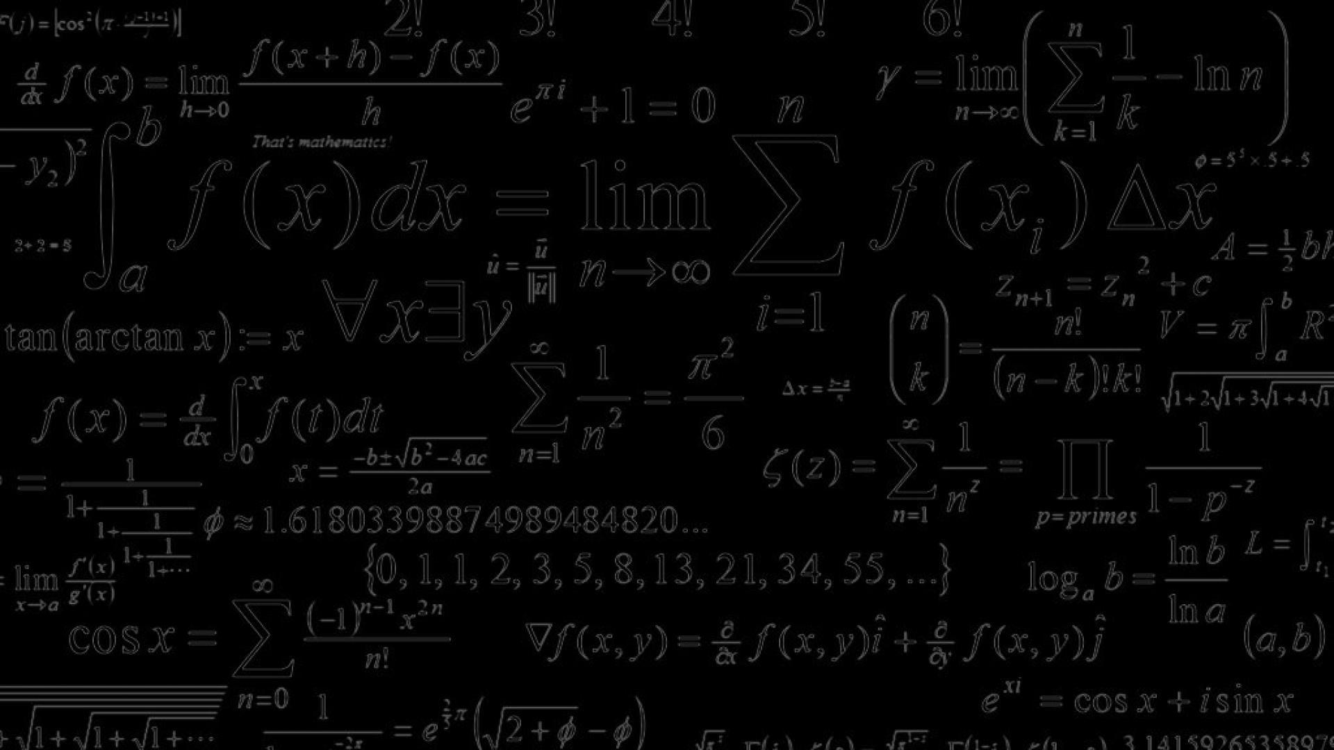 Mathematics HD Desktop Wallpapers 1920x1080