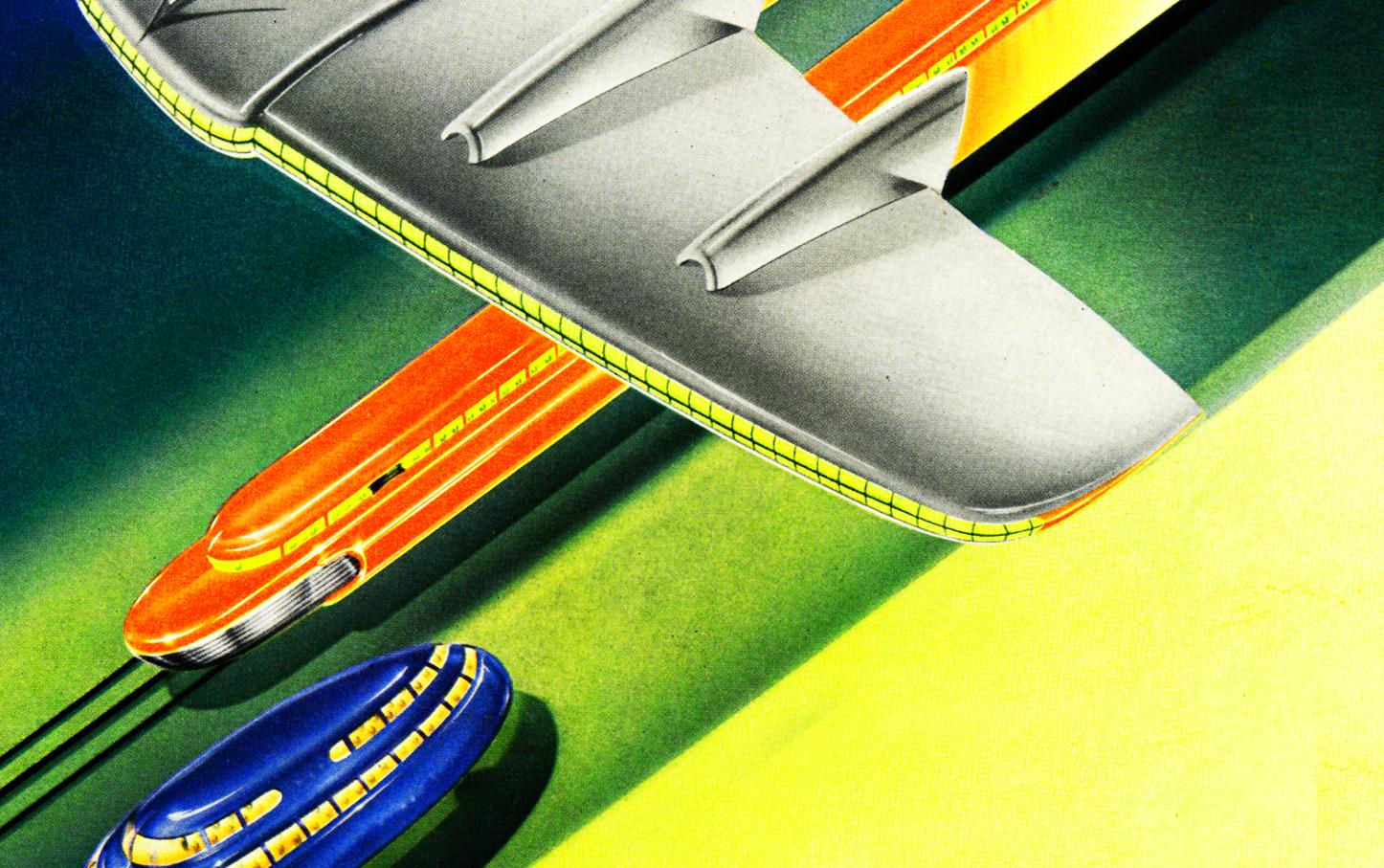 graphic retro streamlined art deco vintage airbrush futuristic space 1446x907