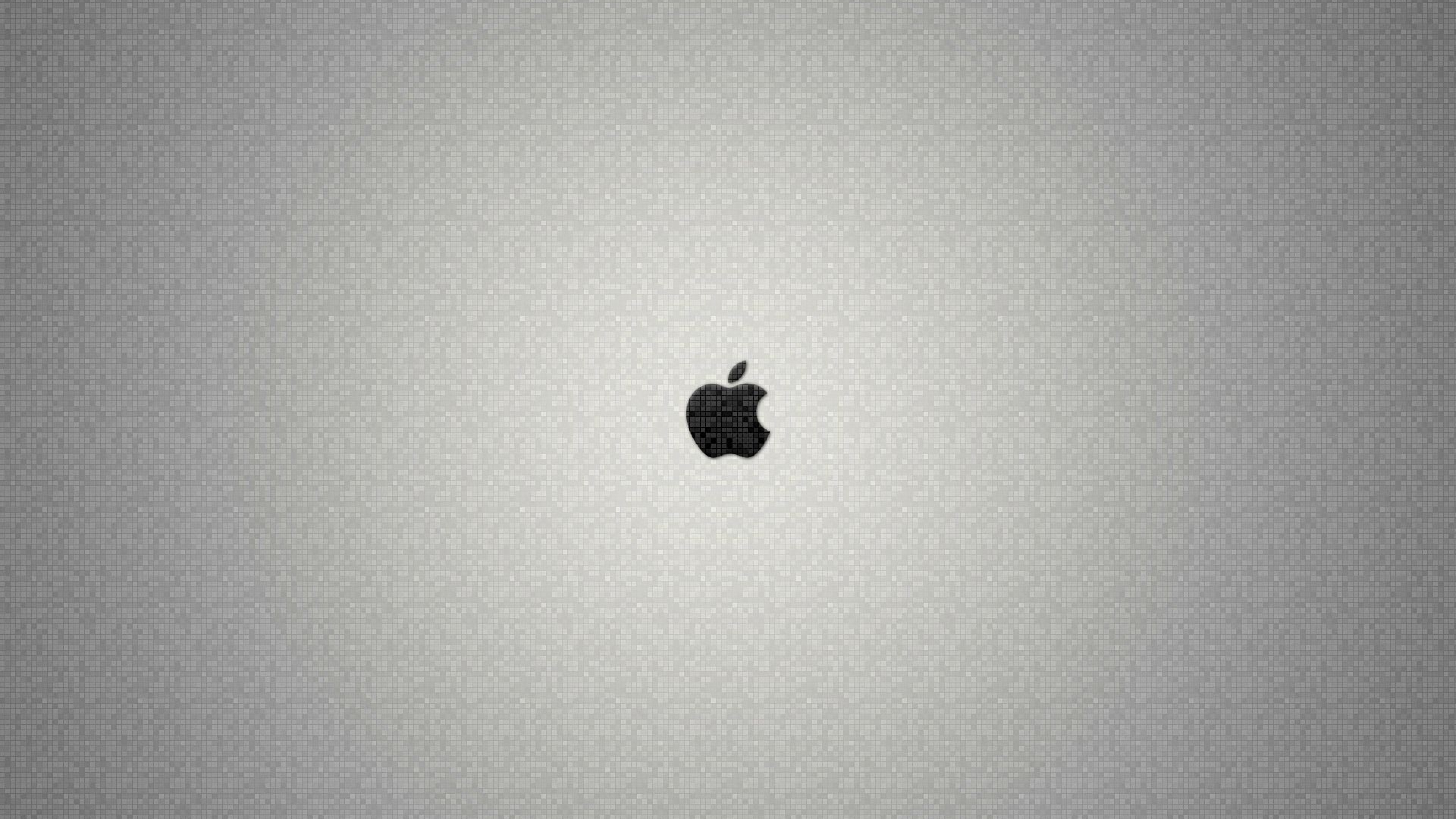3840x2160 Wallpaper apple mac brand logo background bright firm 3840x2160
