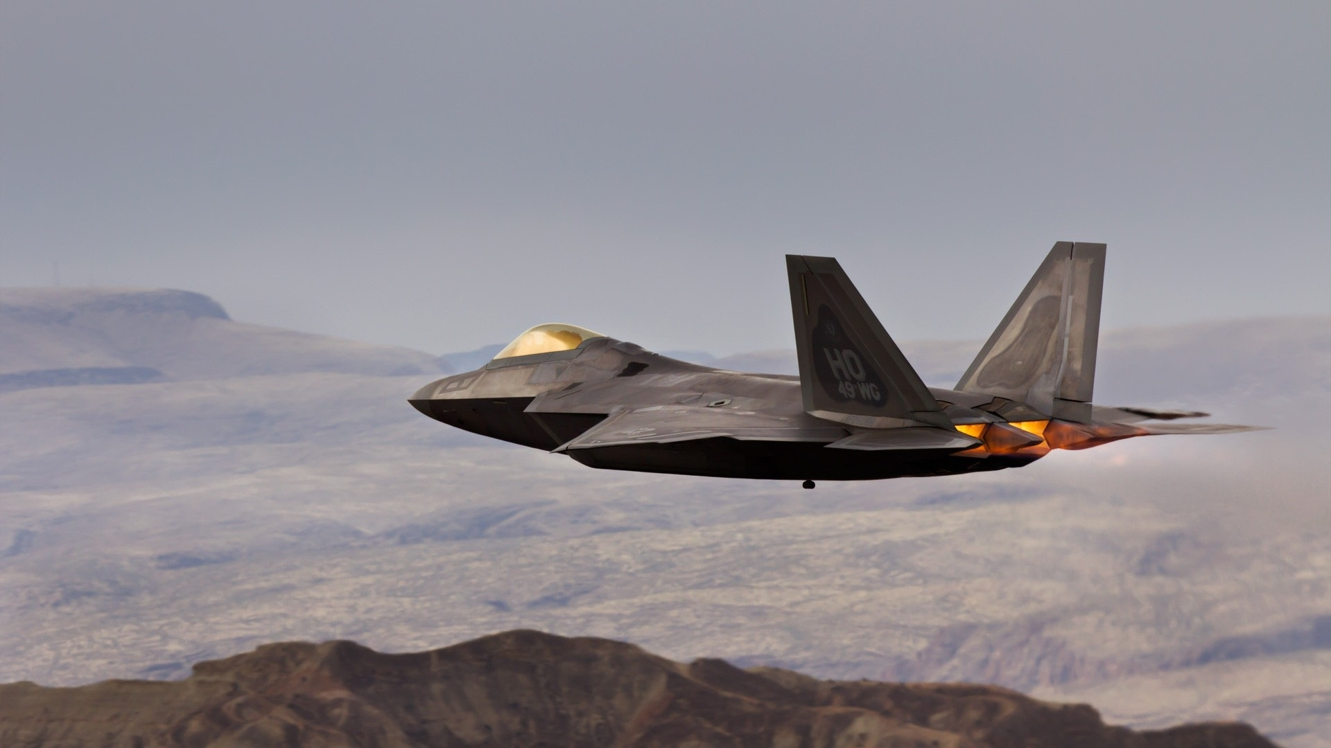 F 22 vehicles aircraft airplane plane weapon military air 1920x1080