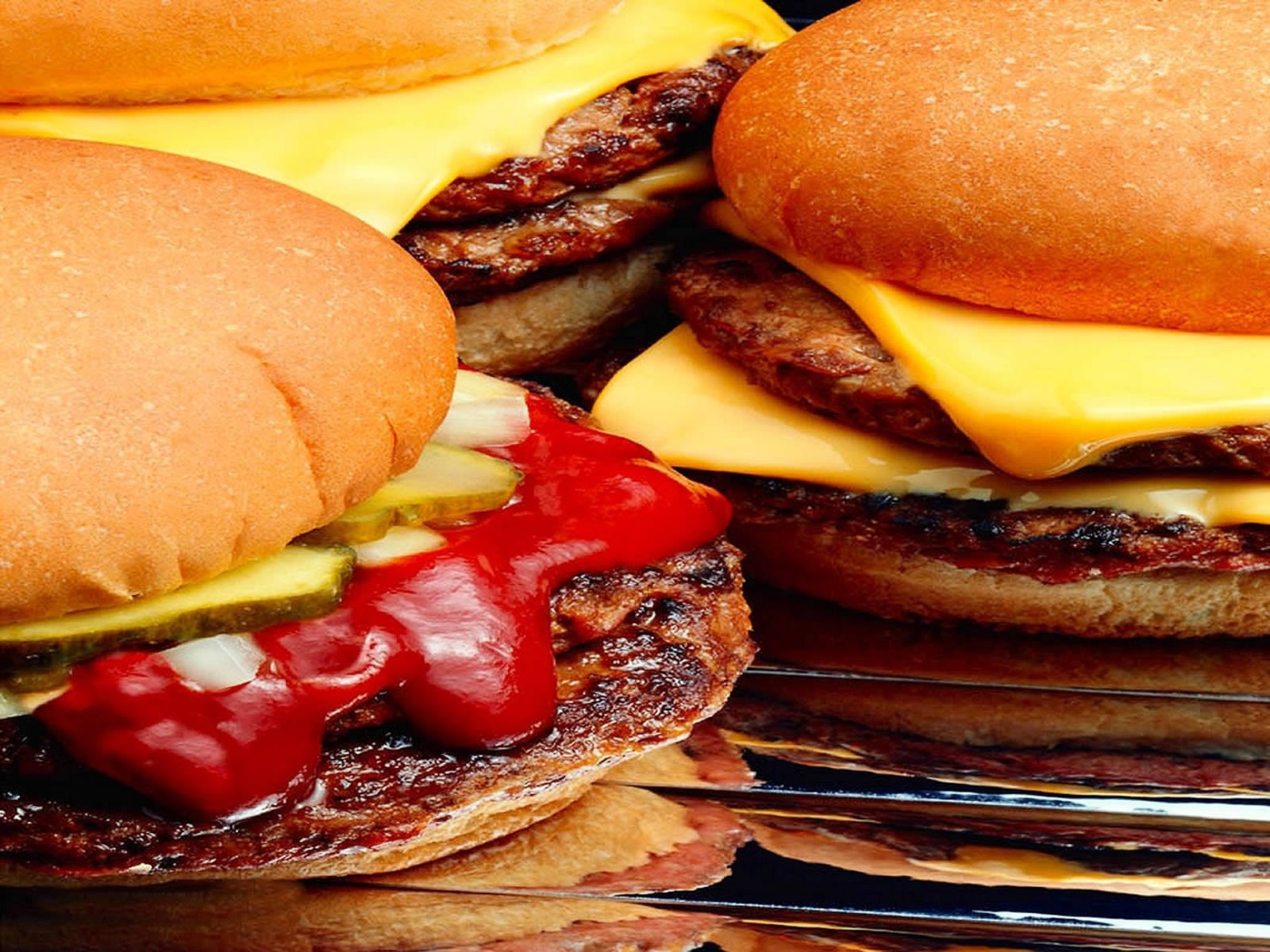 Hamburgers   Food And Drink Wallpaper Image featuring Fast Food 1600x1200