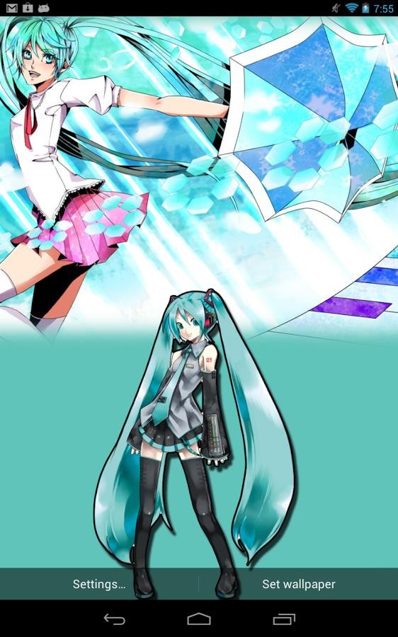 Free Download Hatsune Miku Live Wallpaper Hd Screenshot