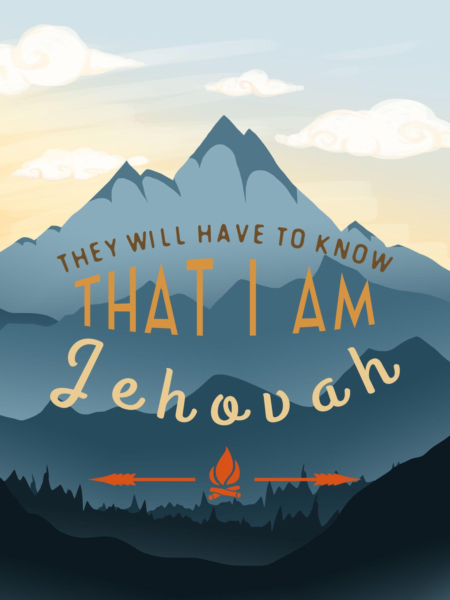 I AM JEHOVAH IPAD MINI WALLPAPER Jehovahs witnesses Best 1536x2048