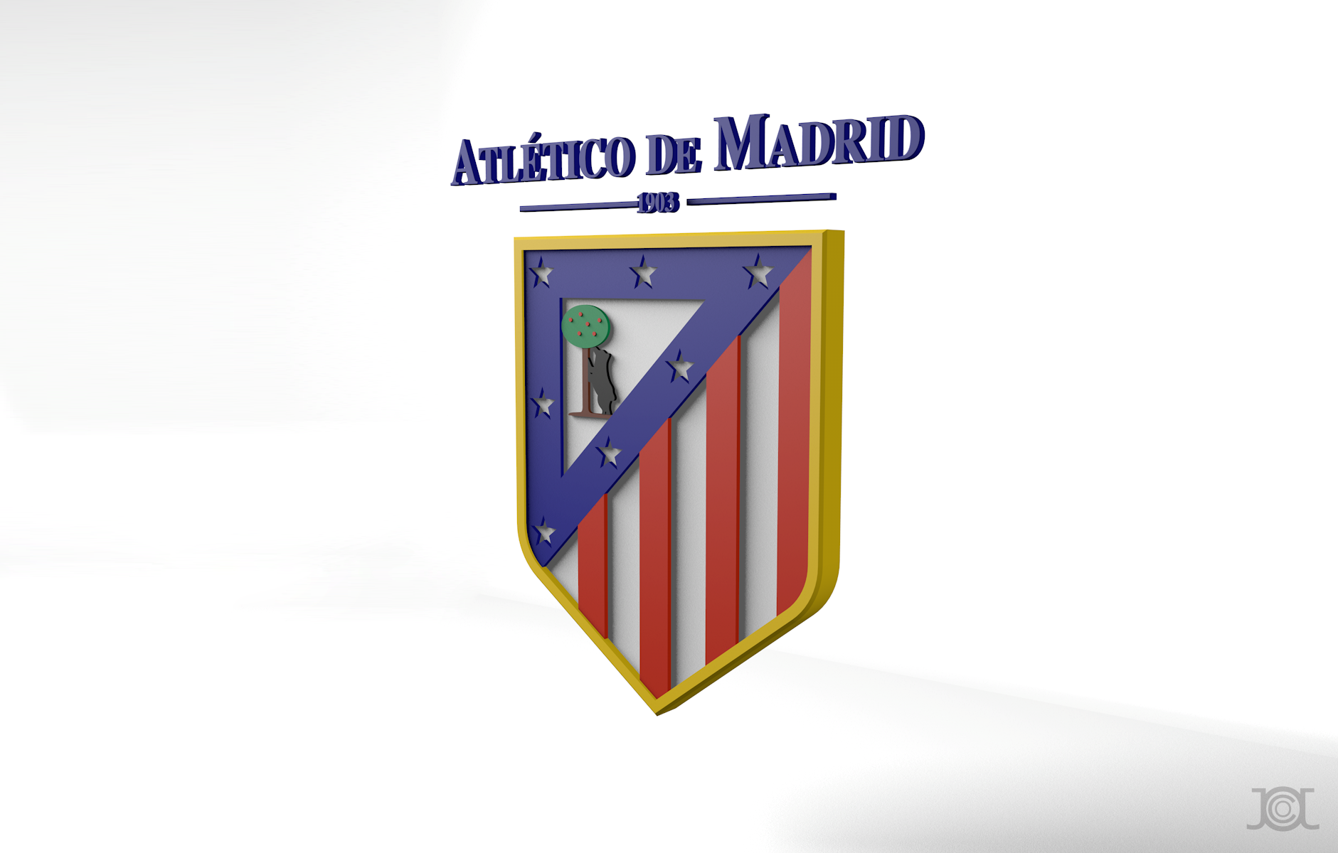 HD Atletico Madrid Logo Wallpaper 1881x1200