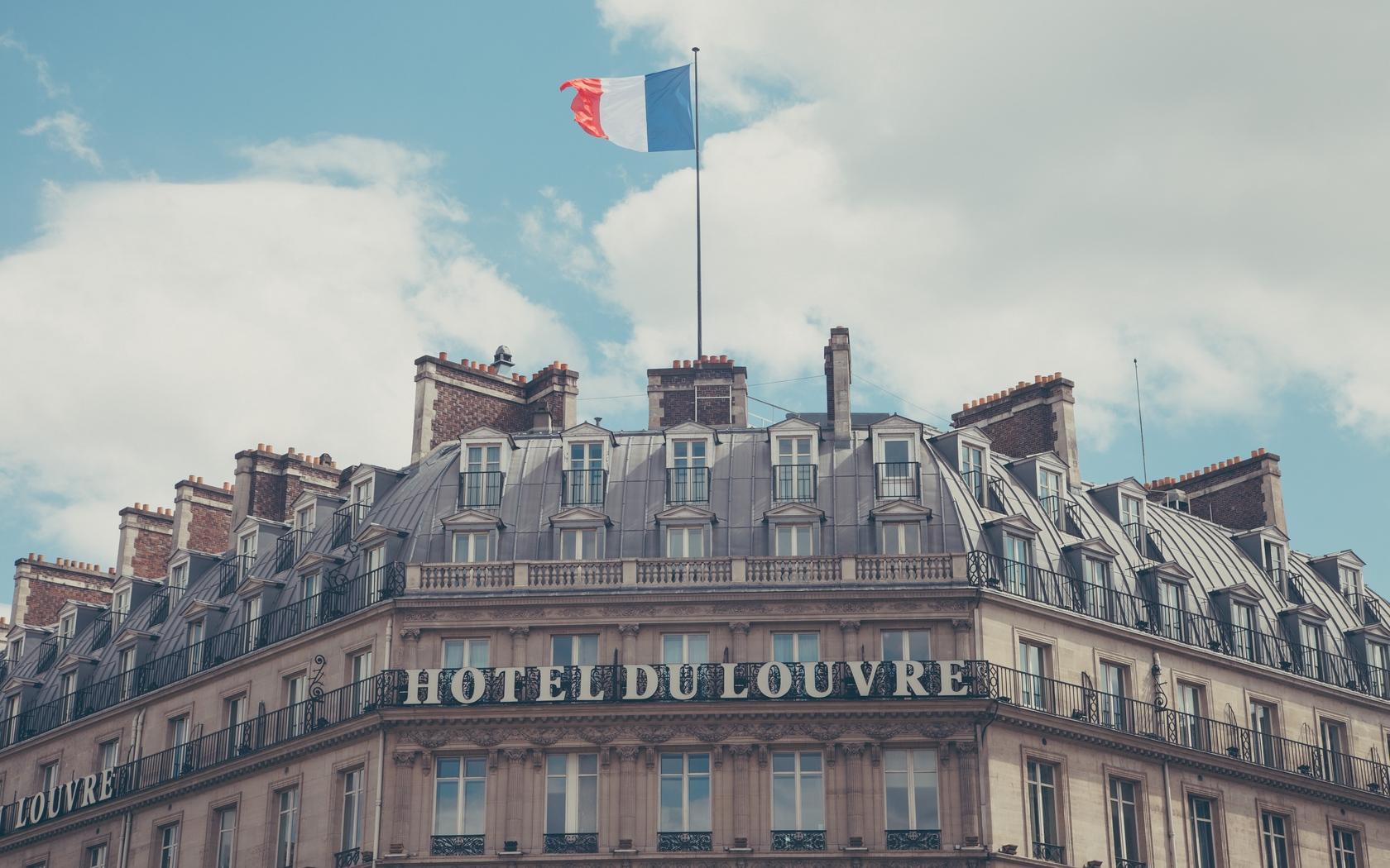 Download wallpaper 1680x1050 paris france hotel hotel du louvre 1680x1050