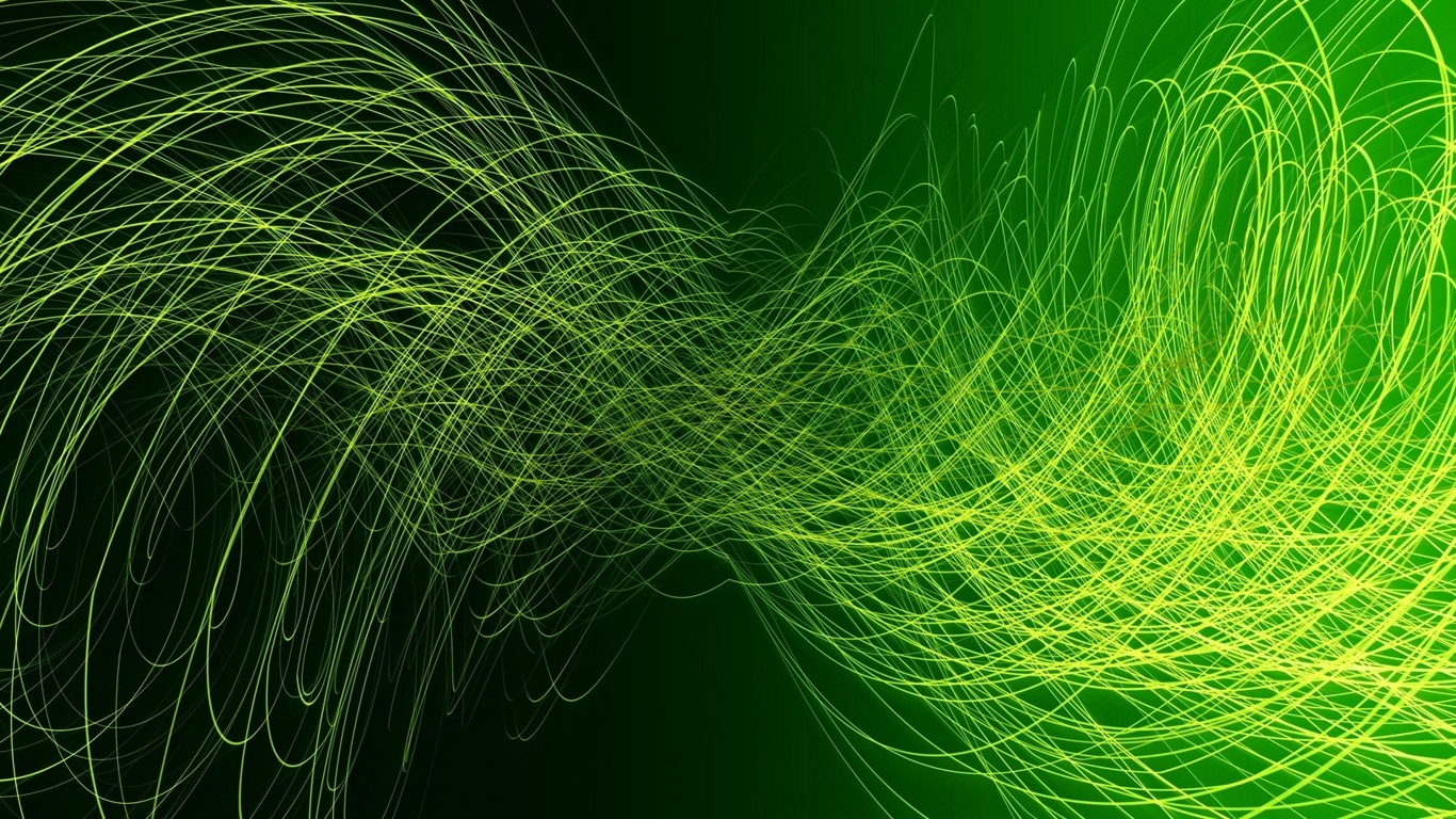 Hd wallpaper green - Green Abstract Wallpaper 1366x768 Green Abstract Colors