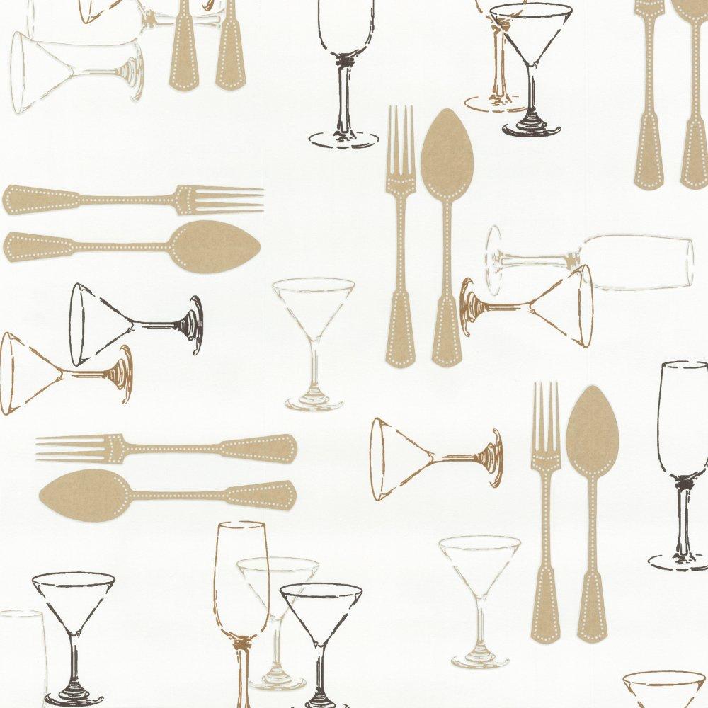Sweet Home Cutlery Wine Luxury Washable Kitchen Wallpaper 03836 40 1000x1000
