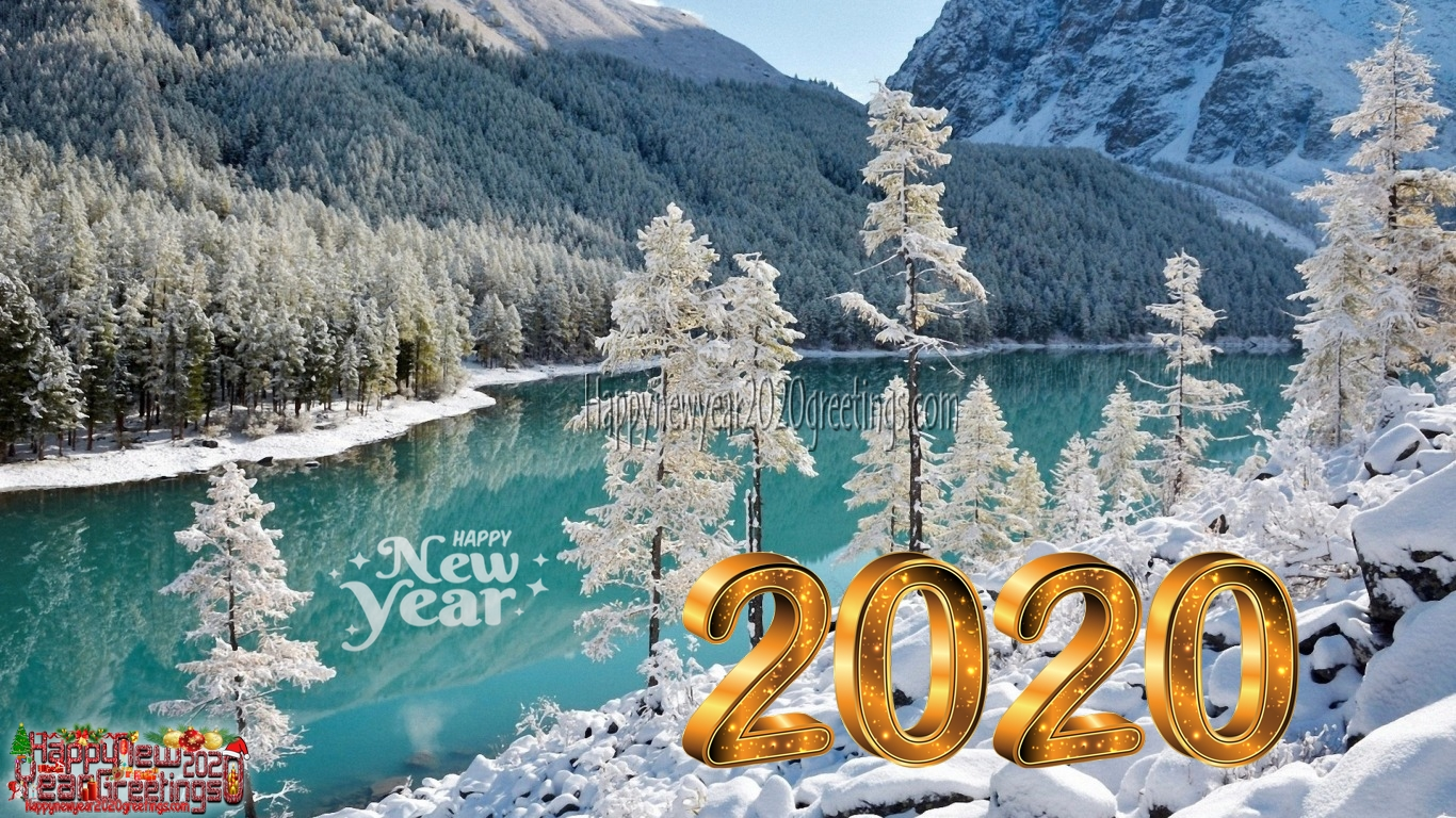 Happy New Year 2020 Full HD Nature Background Wallpapers   Happy 1366x768