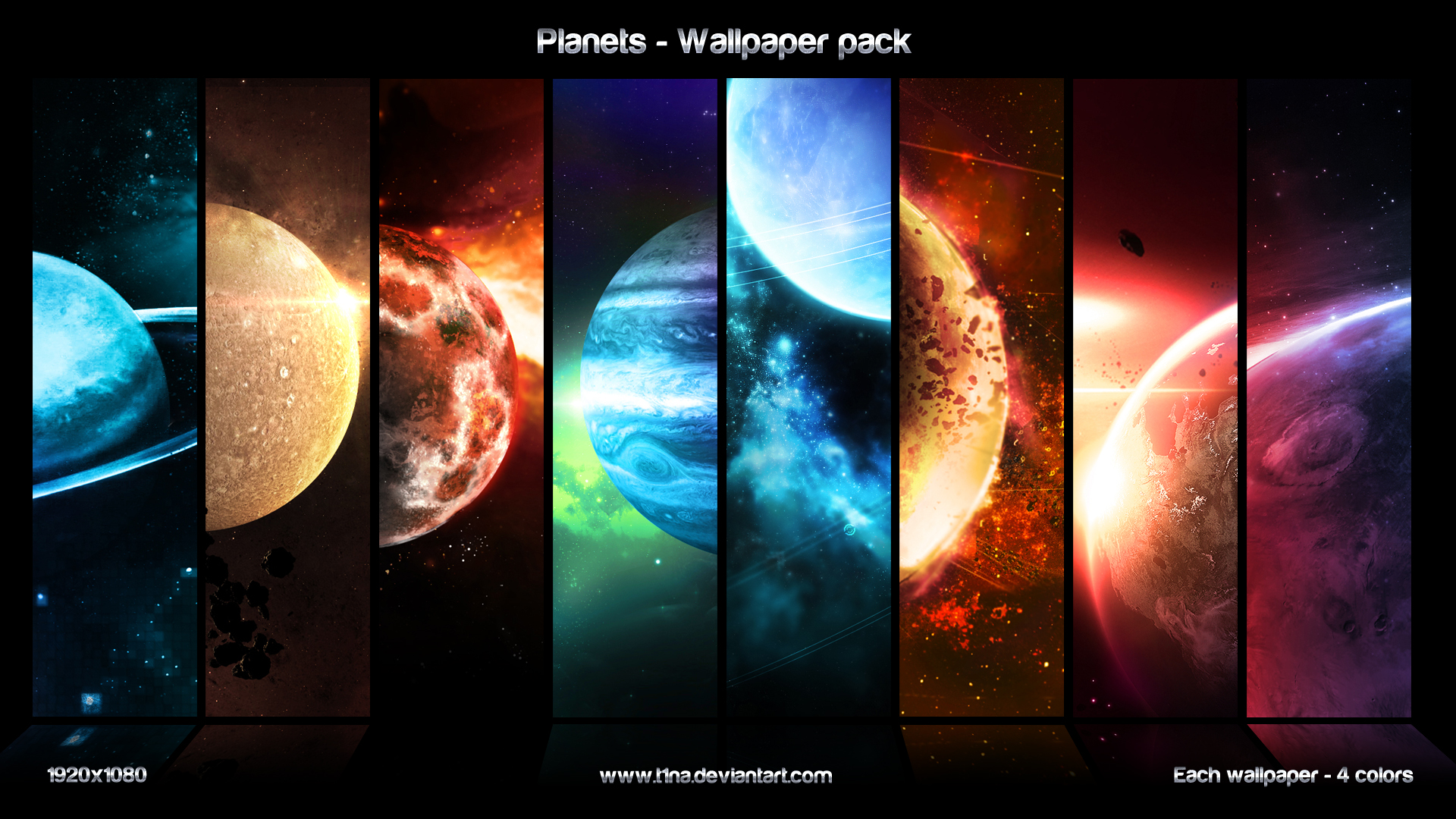 planets wallpaper pack by t1na customization wallpaper hdtv widescreen 1920x1080