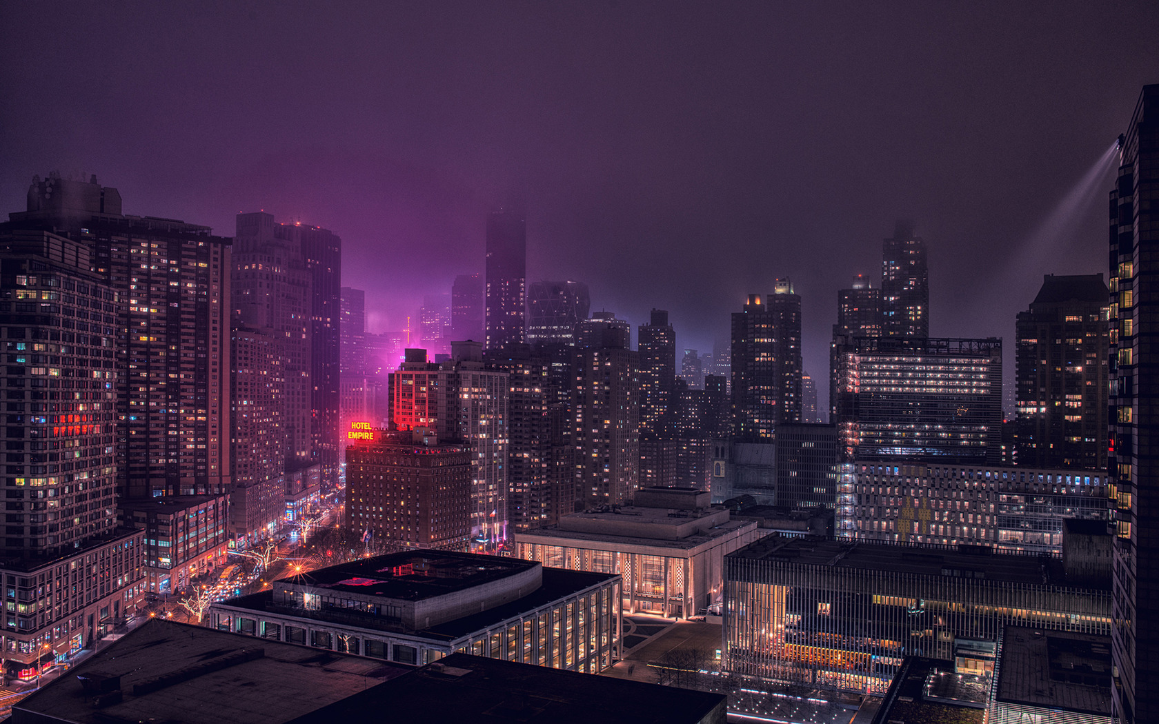 New York at night wallpaper 18275 1680x1050