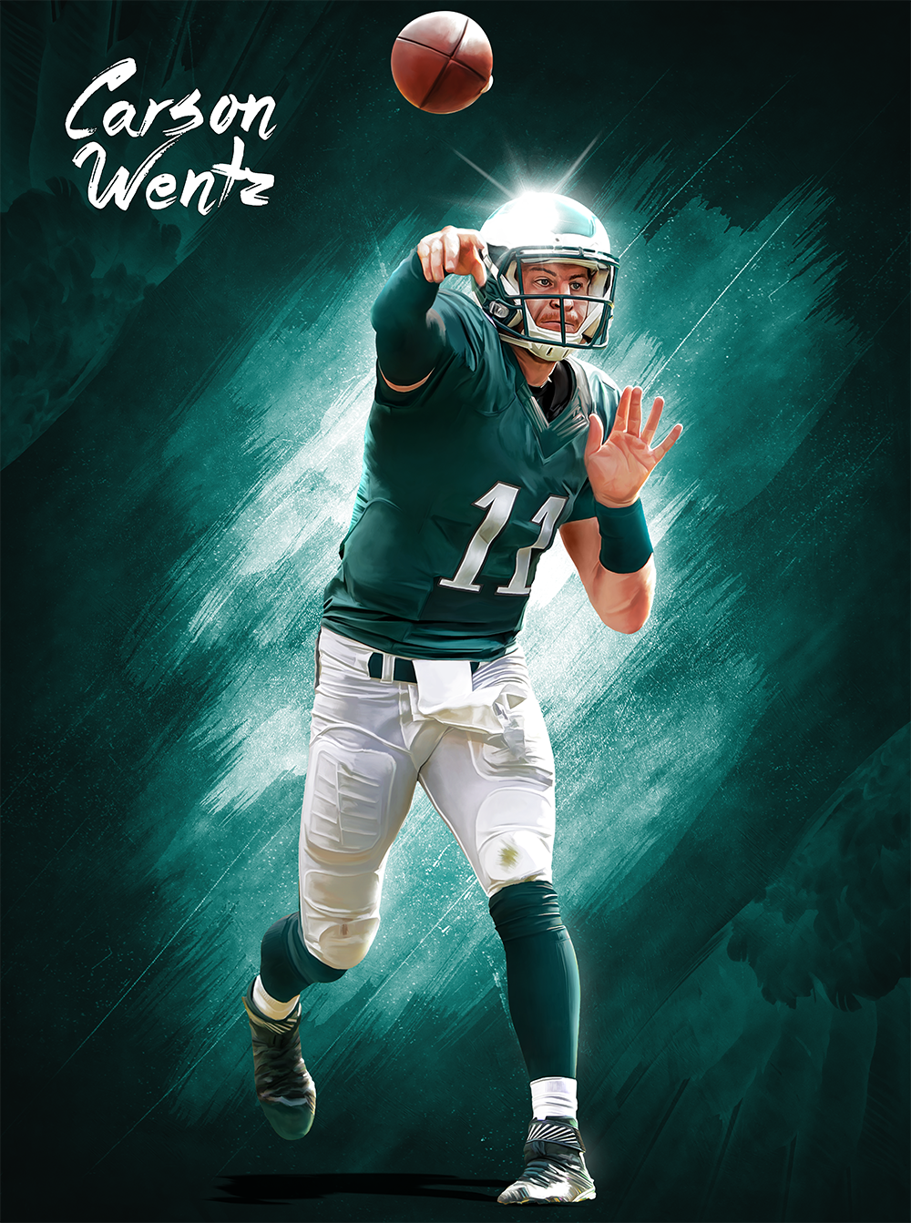 Download Carson Wentz poster on Behance [1000x1343] 99 Carson 1000x1343