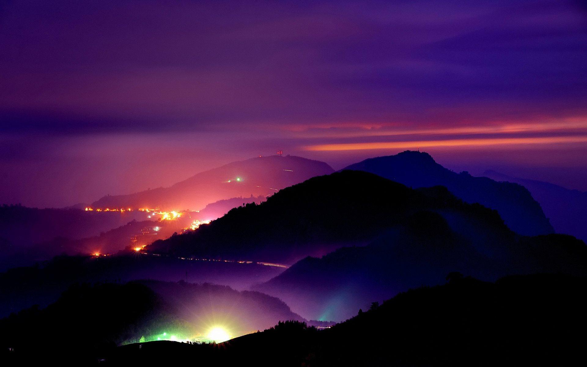 Mountains at Night Widescreen HD Desktop Backgrounds Photos 1920x1200