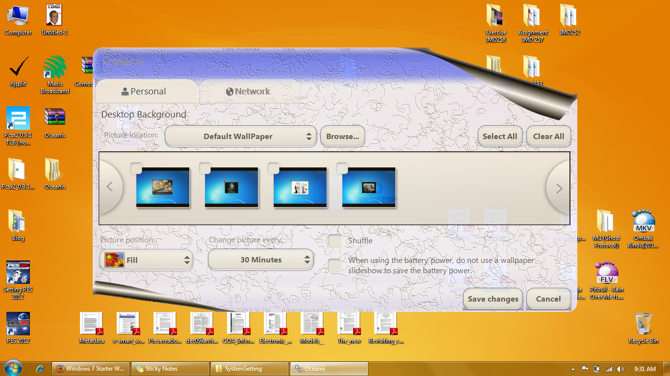 how to change background image windows 7