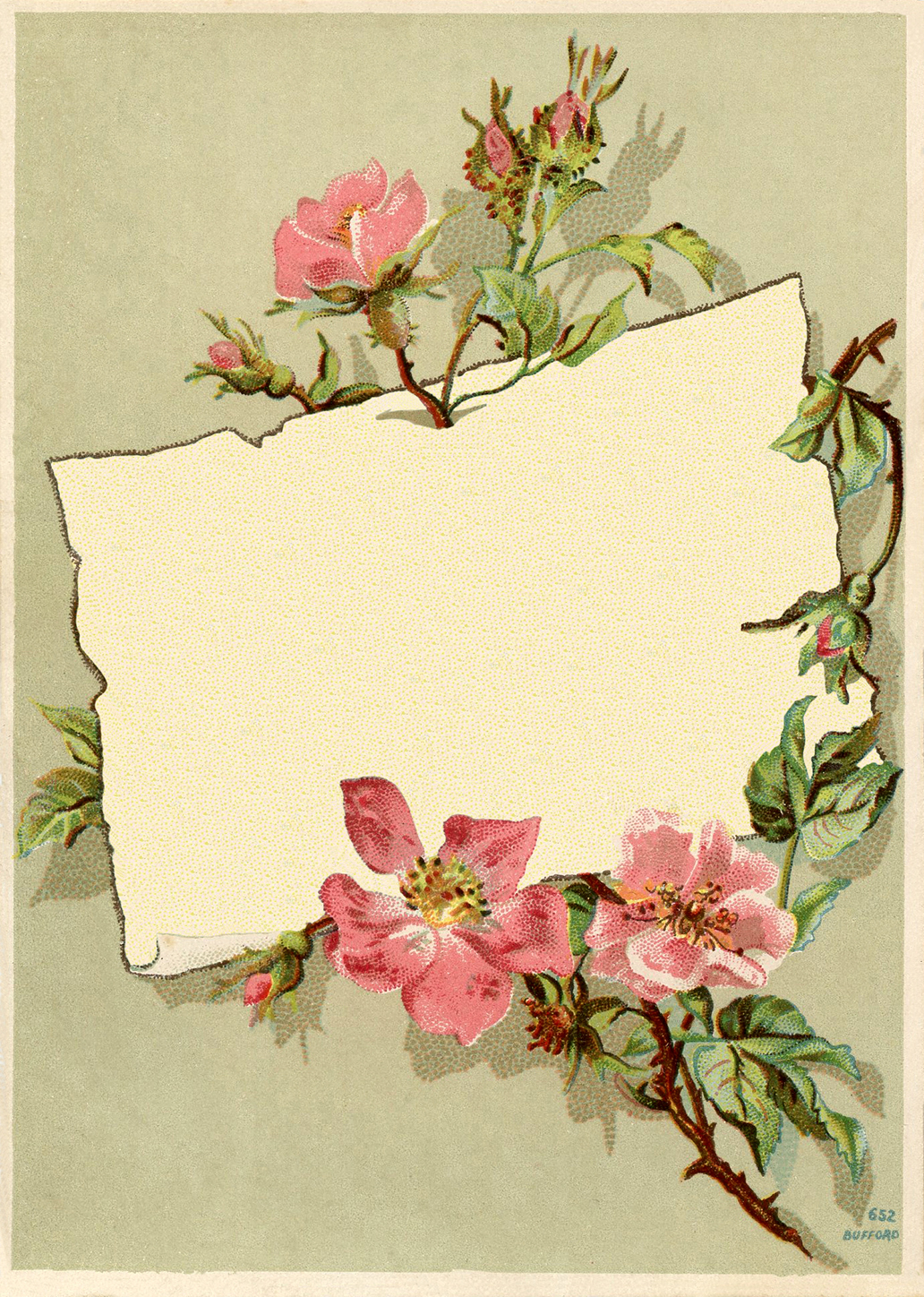 vintage rose frame images this is an antique greeting card that has a 1032x1448