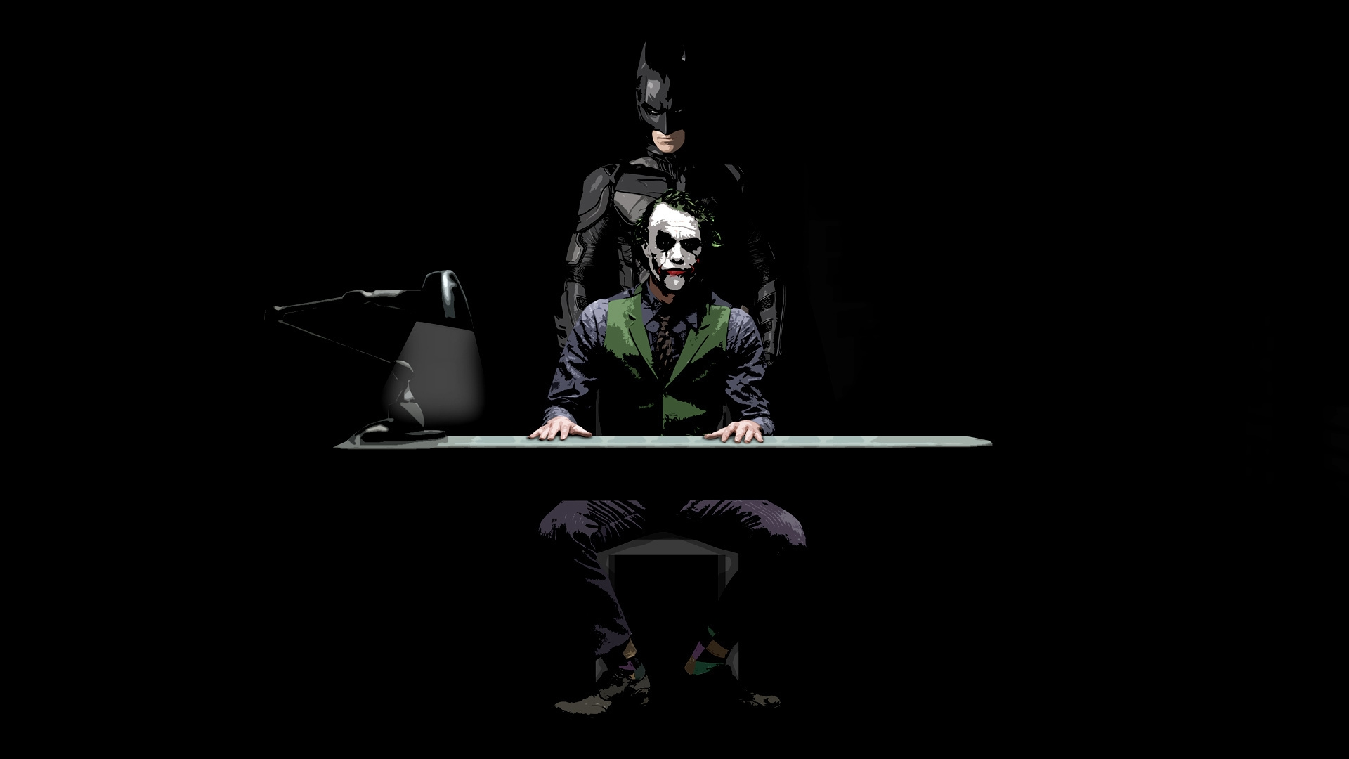 Batman And Joker Sketch 3D Wallpaper HQ Wallpapers Download 100 1920x1080