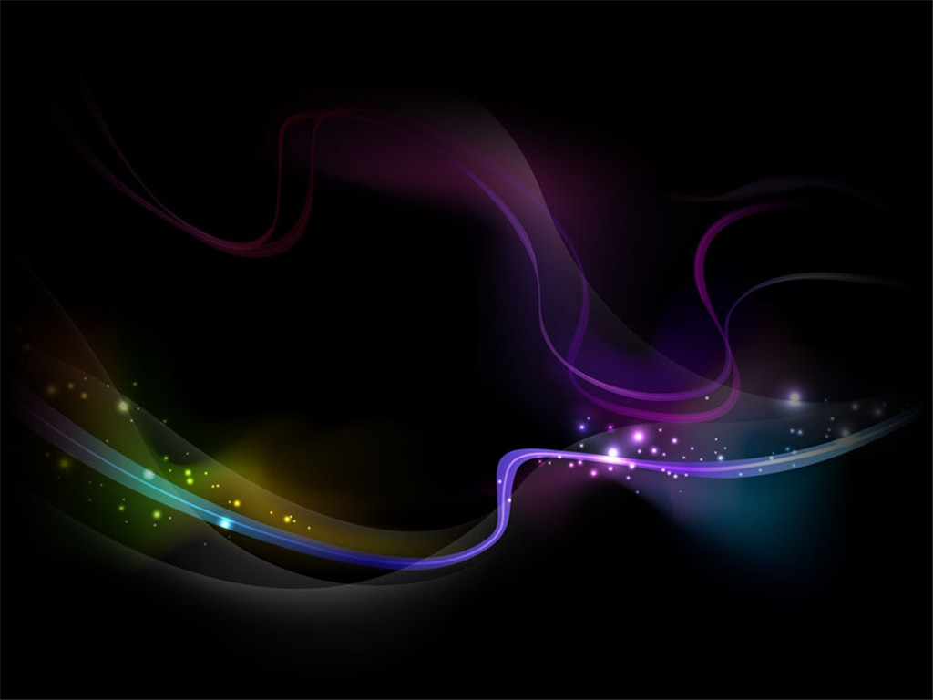 Black Light Lines Background Wallpaper for PowerPoint Presentations 1024x768