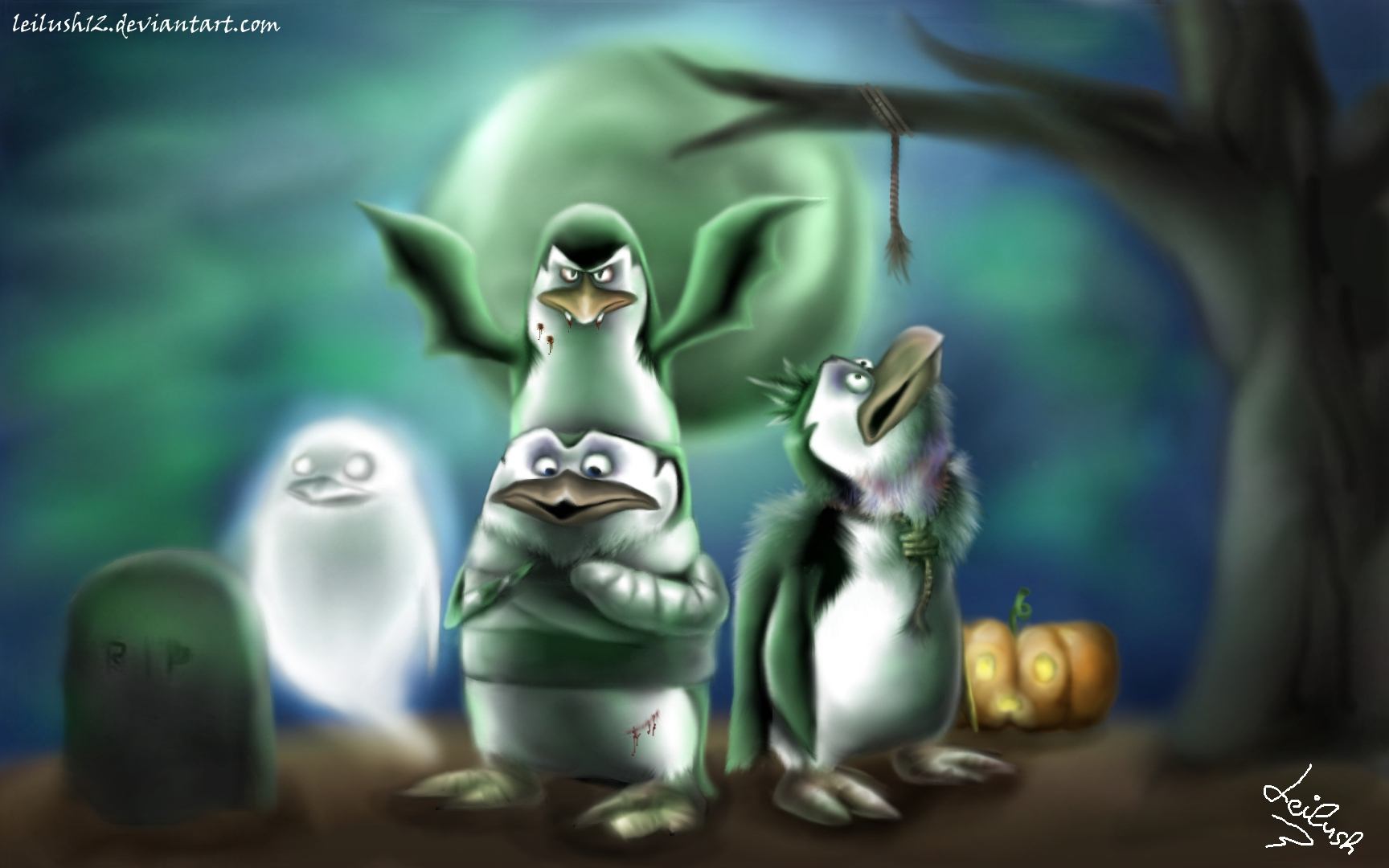 Penguins of Madagascar larawan This is Halloween HD wolpeyper and 1728x1080