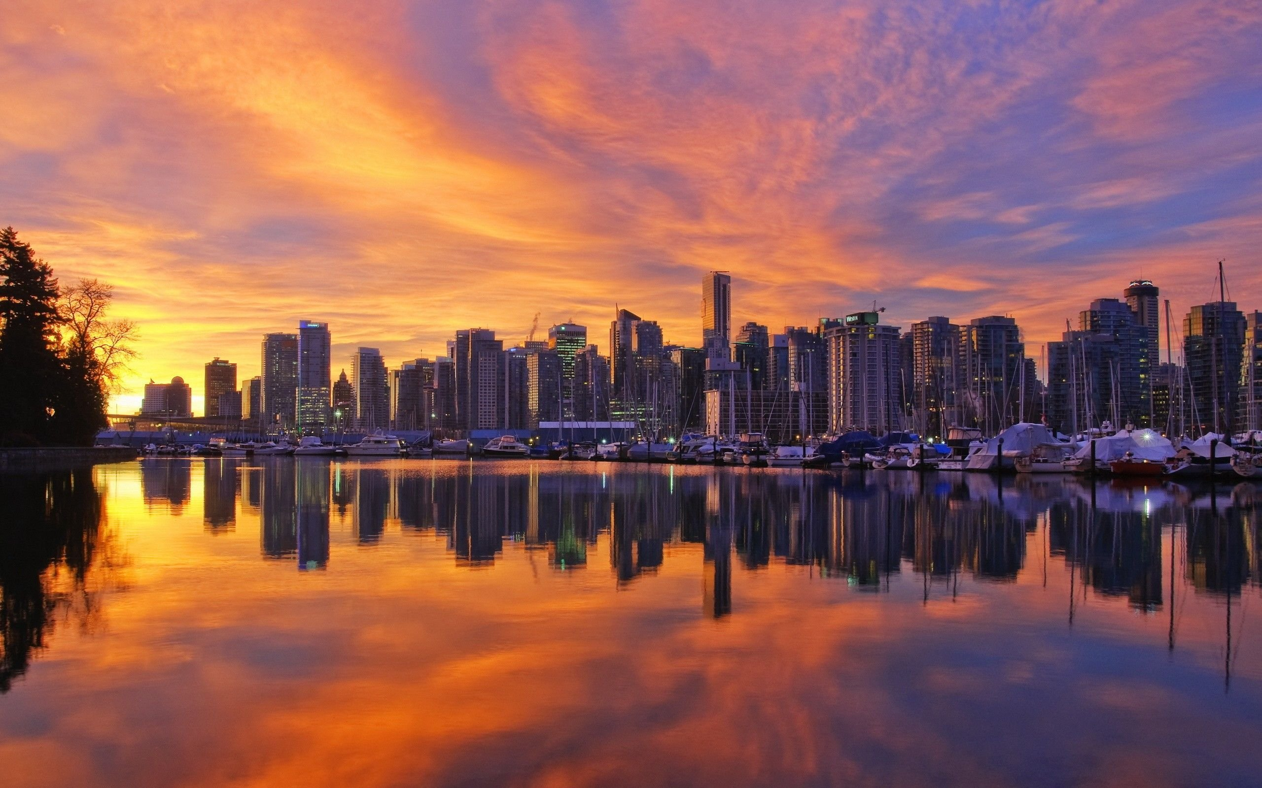 Vancouver Sunset Wallpaper 2560x1600