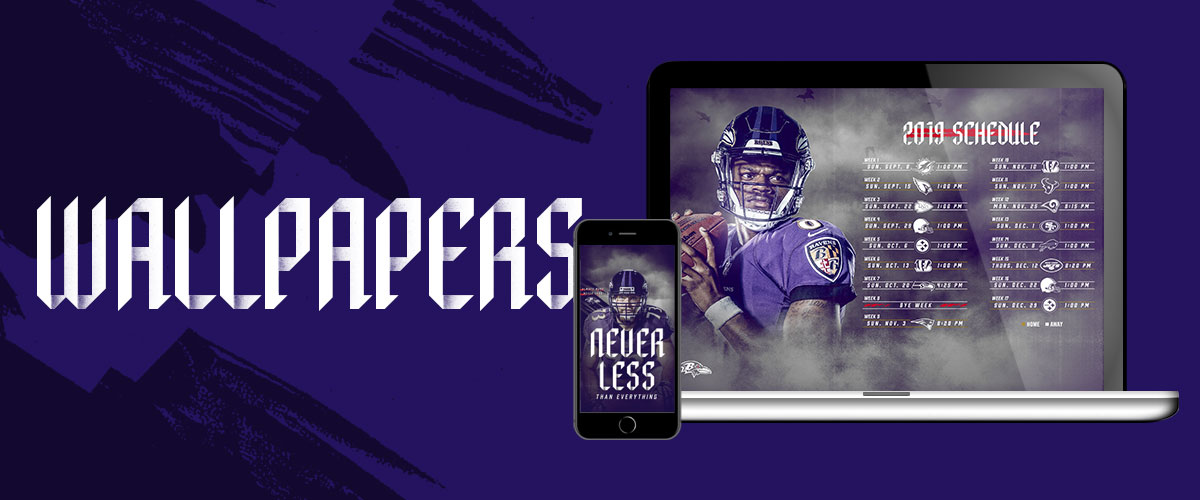 Ravens Wallpapers Baltimore Ravens baltimoreravenscom 1200x500