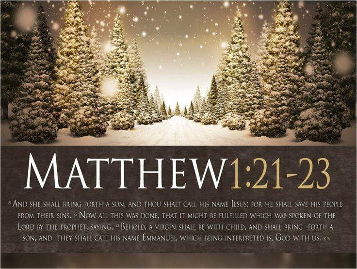 8 Biblical Christmas Quotes And Scriptures: King James Bible Wallpaper