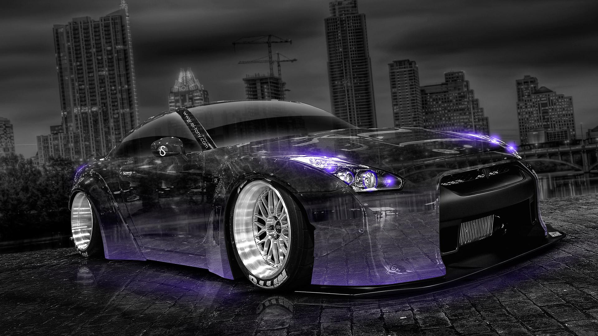 1920x1080 Nissan GTR R35 Tuning Crystal City Car 2014 | El Tony