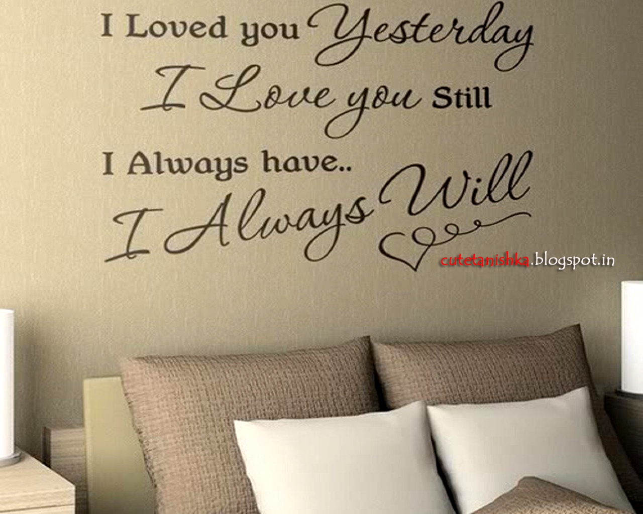 Will Always Love You Romantic Quote Wallpaper For Beloved Cute 1280x1024