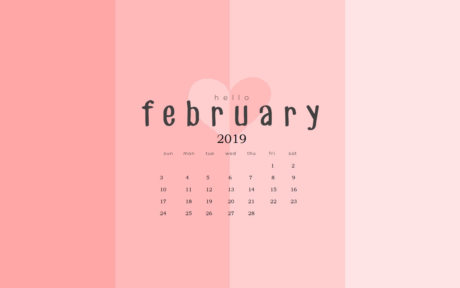 February 2019 Calendar Wallpapers Calendar 2019 1856x1161