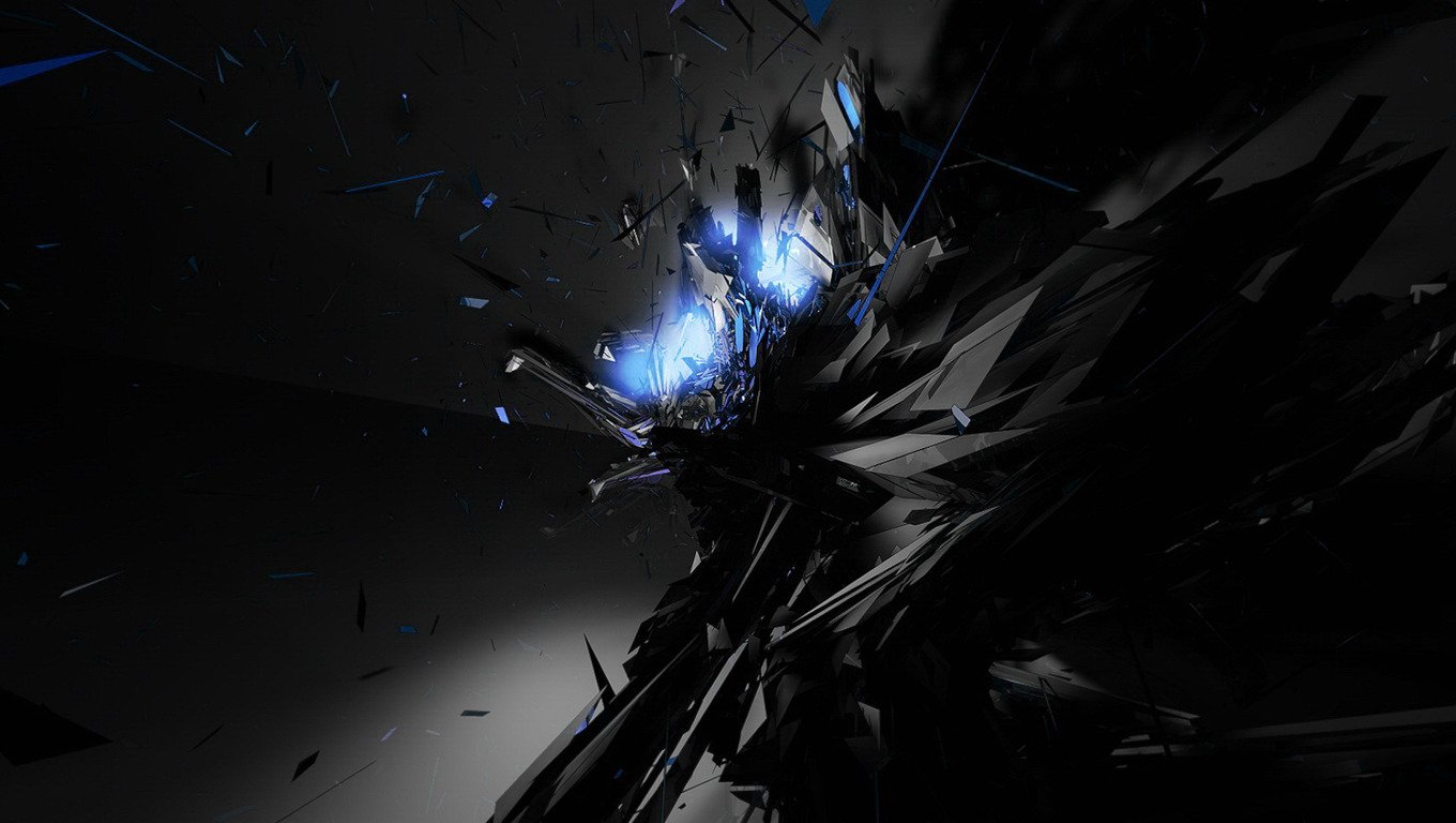 Black Blue Abstract Wallpaper 3359 Hd Wallpapers in Abstract 1360x768
