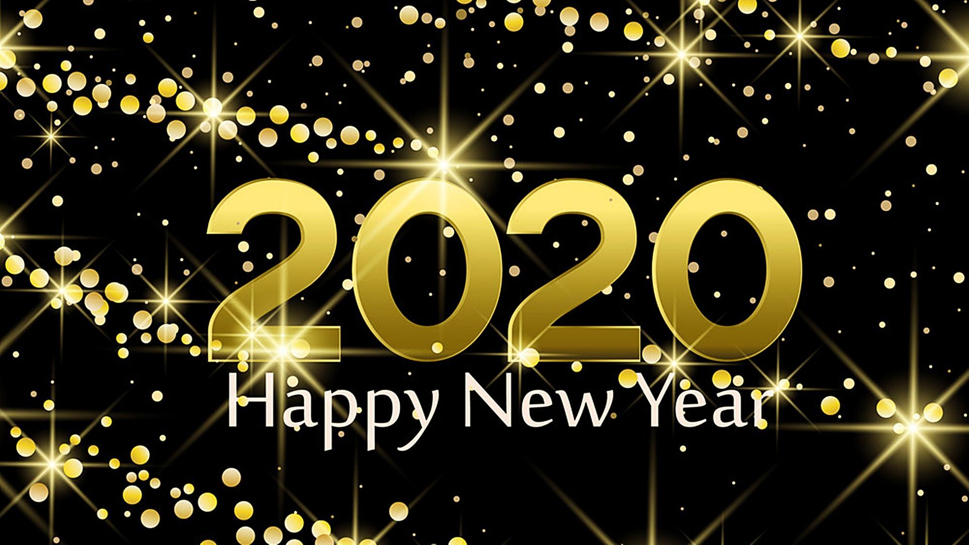 Happy New Year 2020 Desktop HD Wallpaper 45545   Baltana 1920x1080