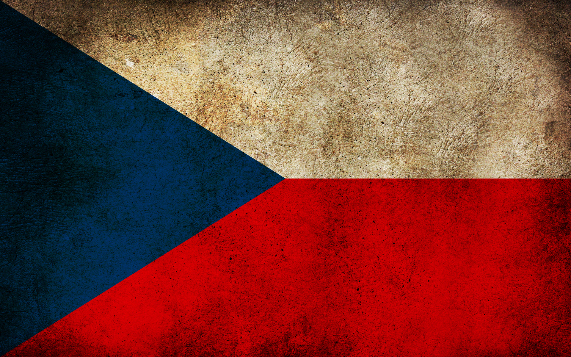 Czech Republic Grunge Flag BUZZERG 1920x1200