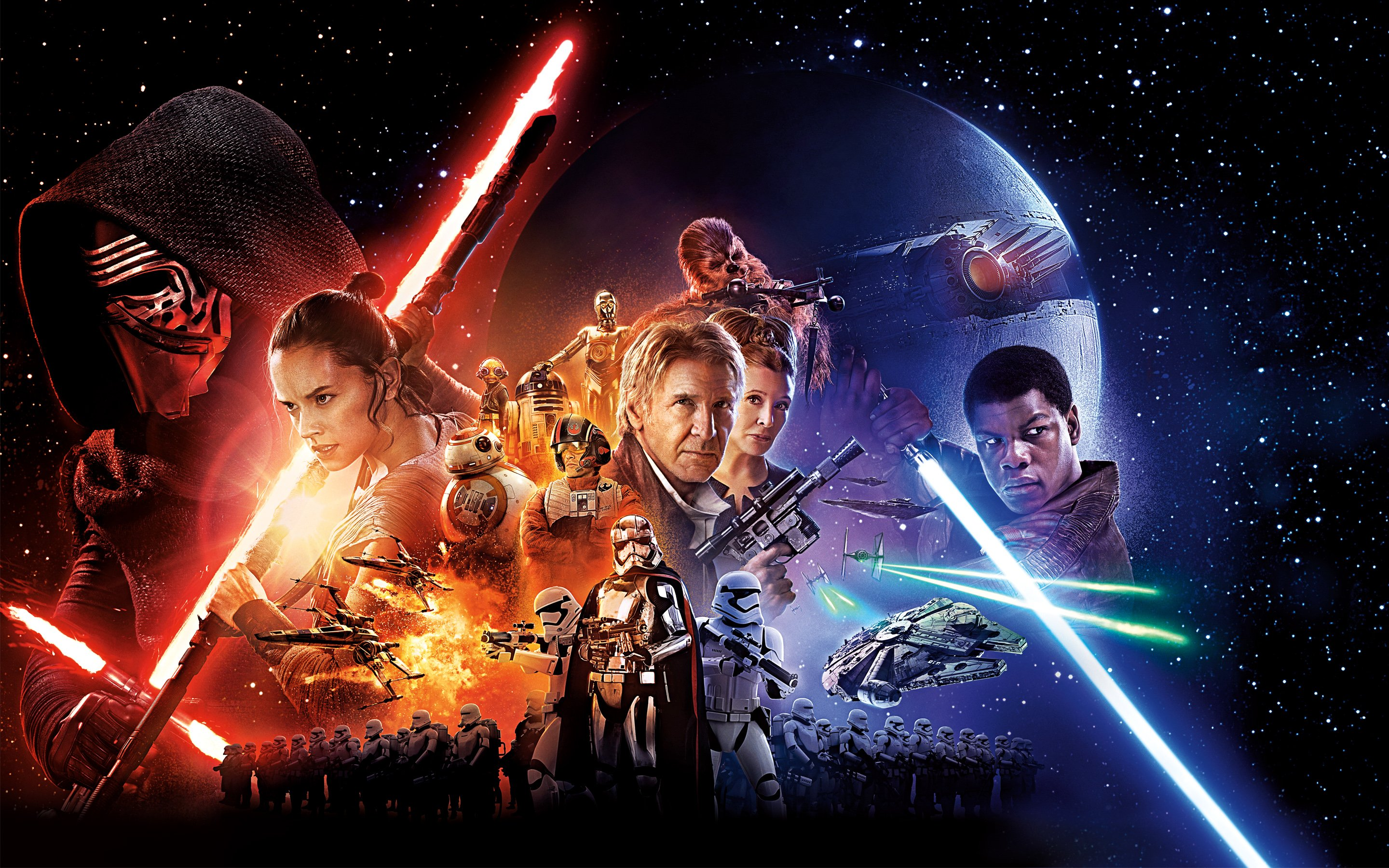 Wars Episode VII The Force Awakens Movie Wallpapers HD Wallpapers 2880x1800