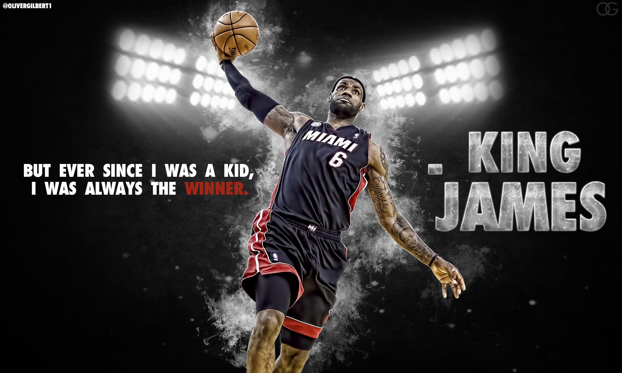 LeBron James Basketball Quote King Wallpaper 209
