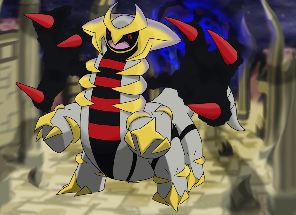 Favourite Ghost type Pokemon Giratina by Kumata 1000x727