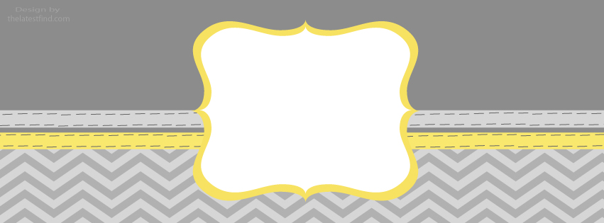 Yellow And Gray Chevron Background facebook timeline banners 851x315