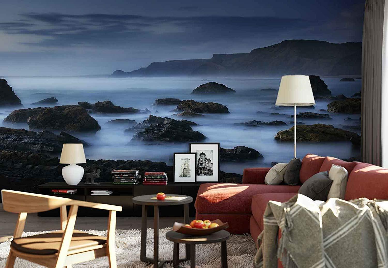 Photo wallpaper wall mural   Sea Coast Mist Blue   Theme Beach 1500x1036