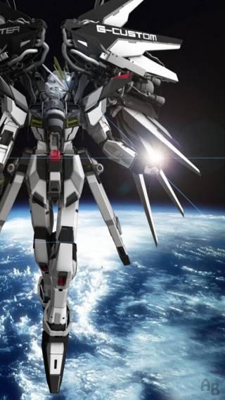 Gundam 002 iPhone Wallpaper 320x568