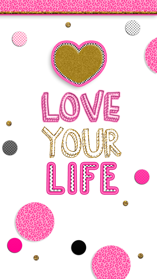 FREE adorable phone wallpapers Pink black and gold Super girly 640x1136