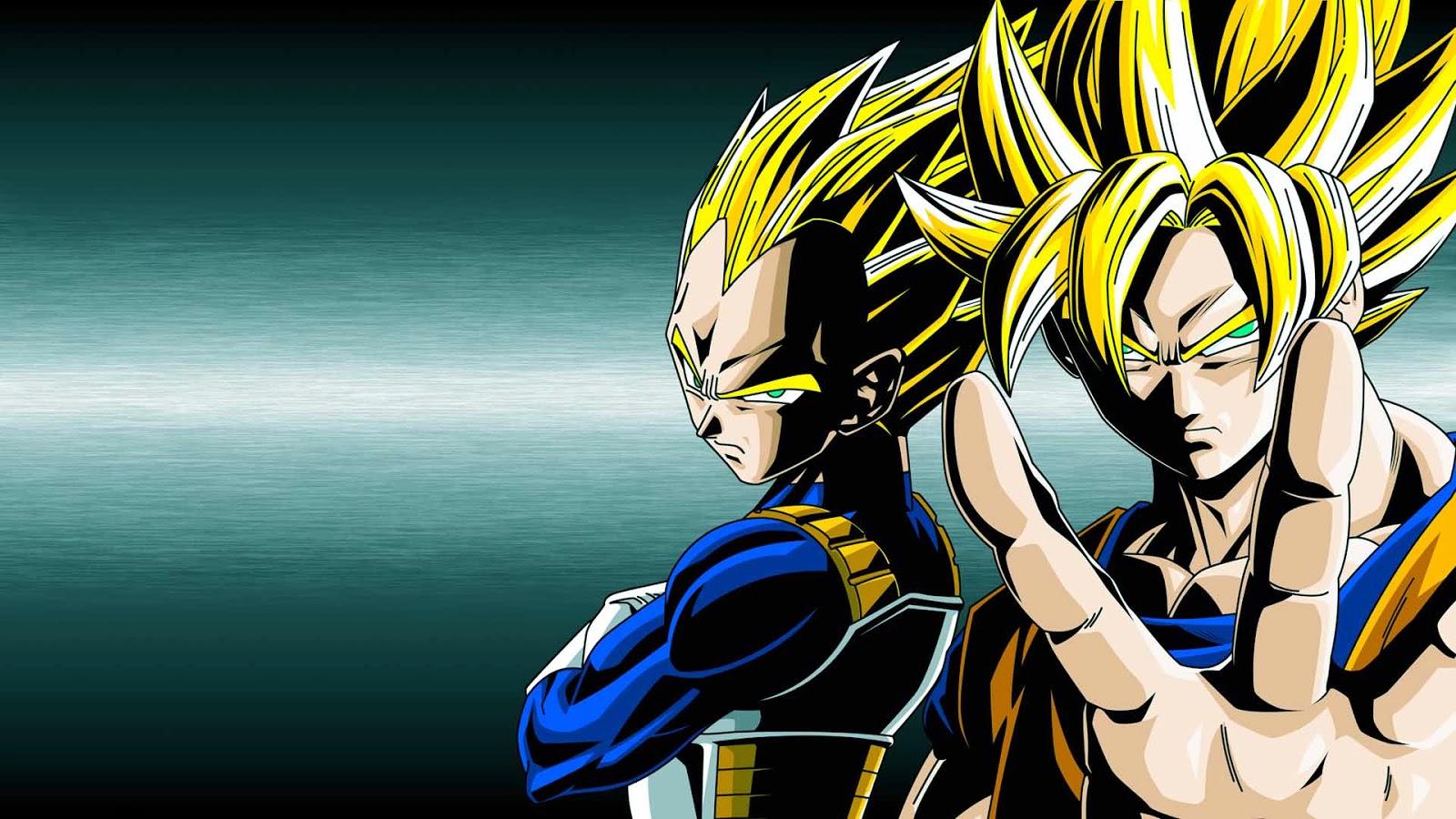 Super Saiyan 1 Goku Vegeta Wallpaper 1600x900
