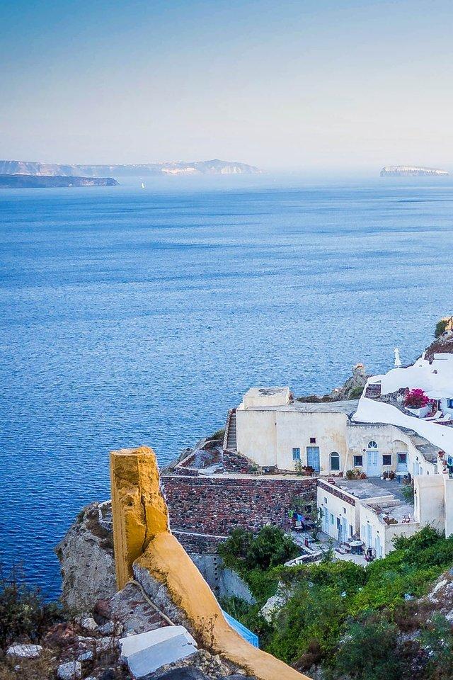 Oia Santorini Greece Sunset Island Sea Tourism   nature 640x960